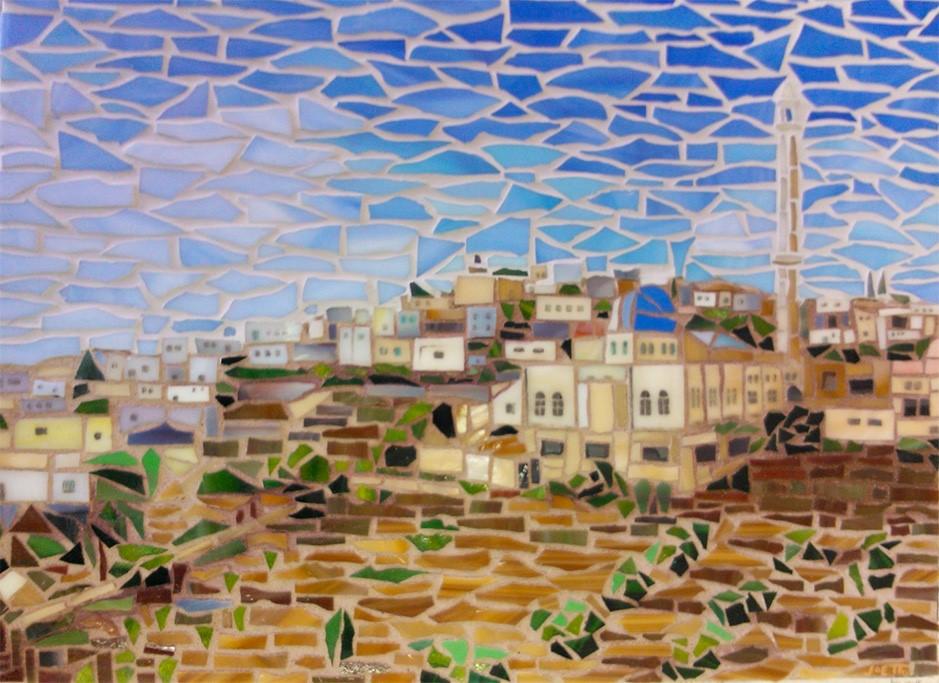"""""""Your Village"""" original fine art by Joetta Currie"""