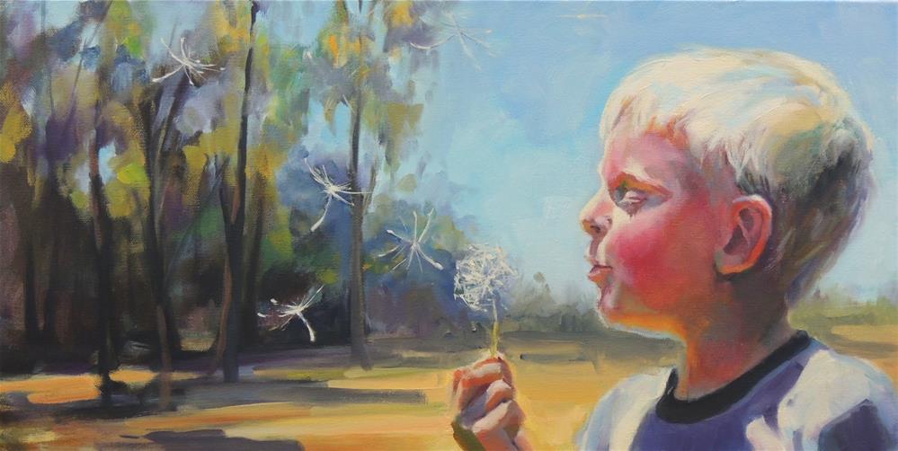 """Flight of the Dandelion"" original fine art by Wendy Brayton"