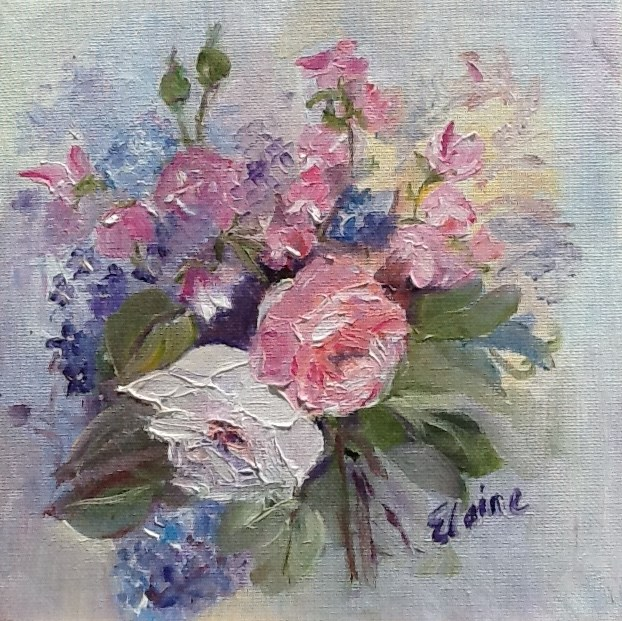 """Grandma's Bouquet"" original fine art by Elaine Ford"