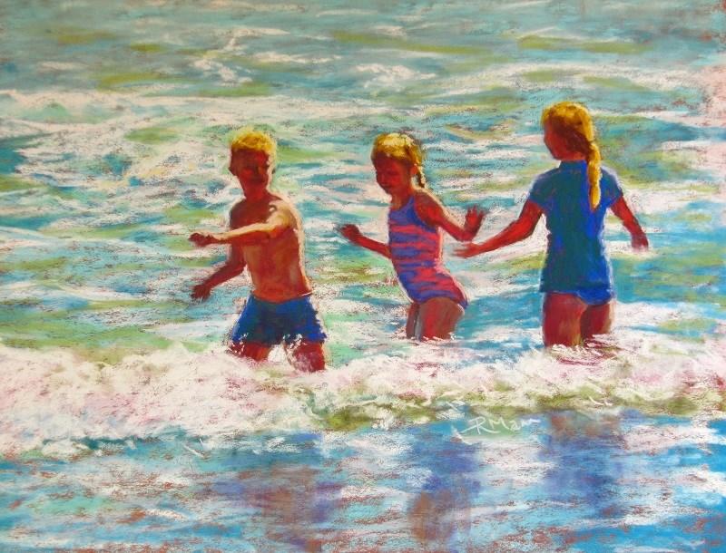 """Riding the Wave"" original fine art by Ruth Mann"