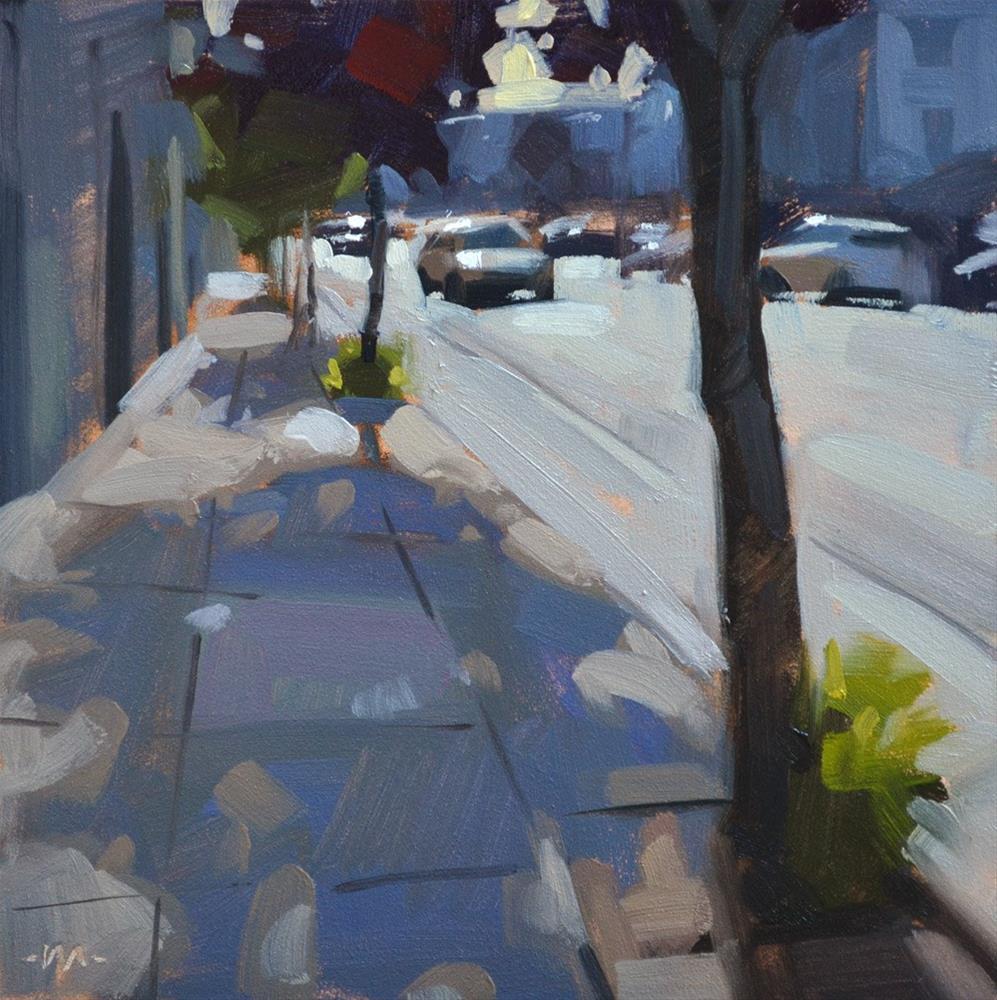 """Tree Shadows"" original fine art by Carol Marine"