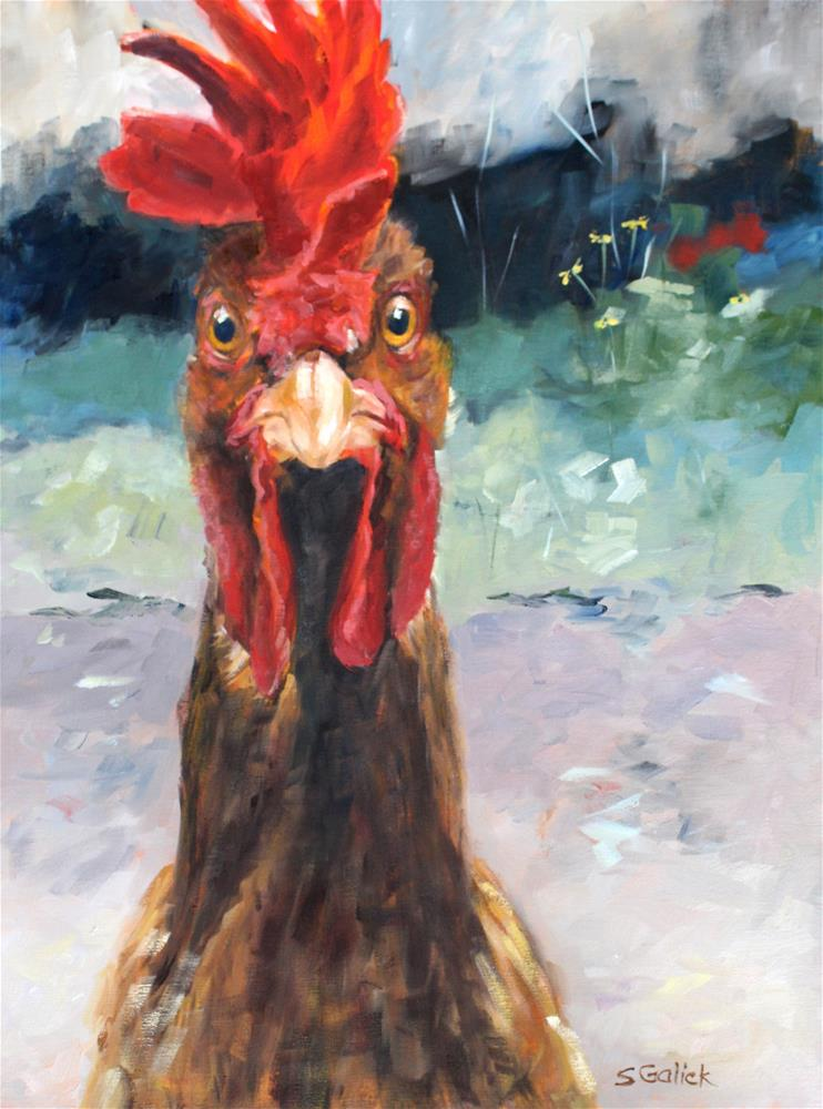 """""""I Got Attitude"""" original fine art by Susan Galick"""