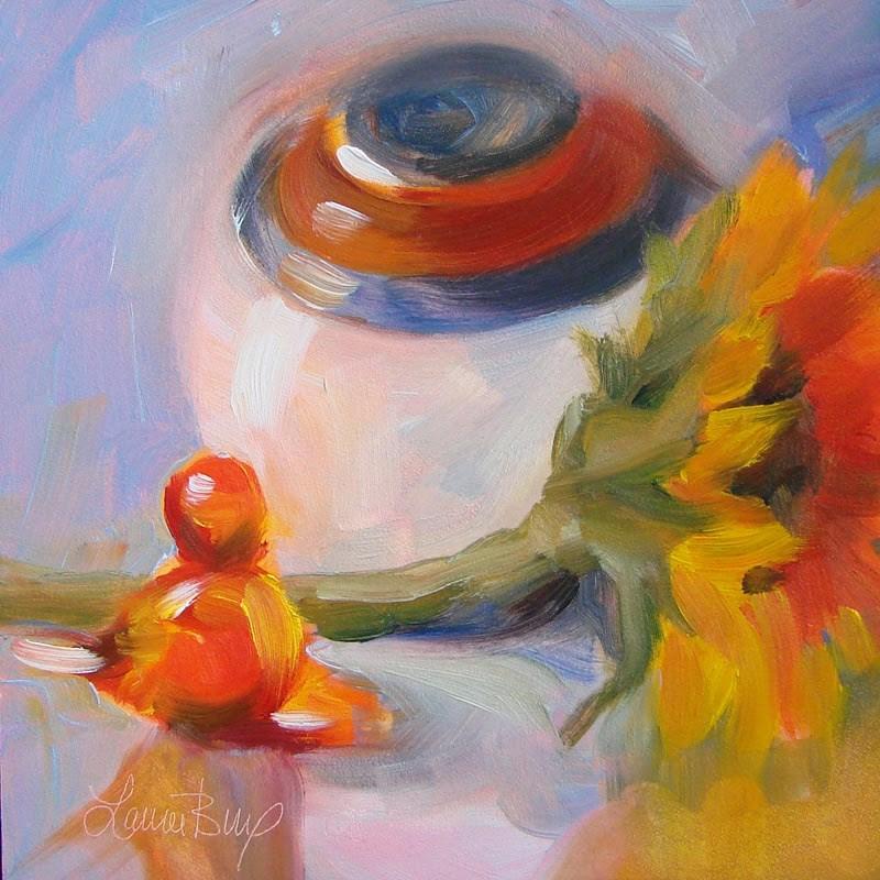 """Last Sunflower 201"" original fine art by Laura  Buxo"
