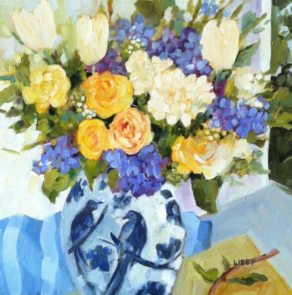 """Bird Vase"" original fine art by Libby Anderson"