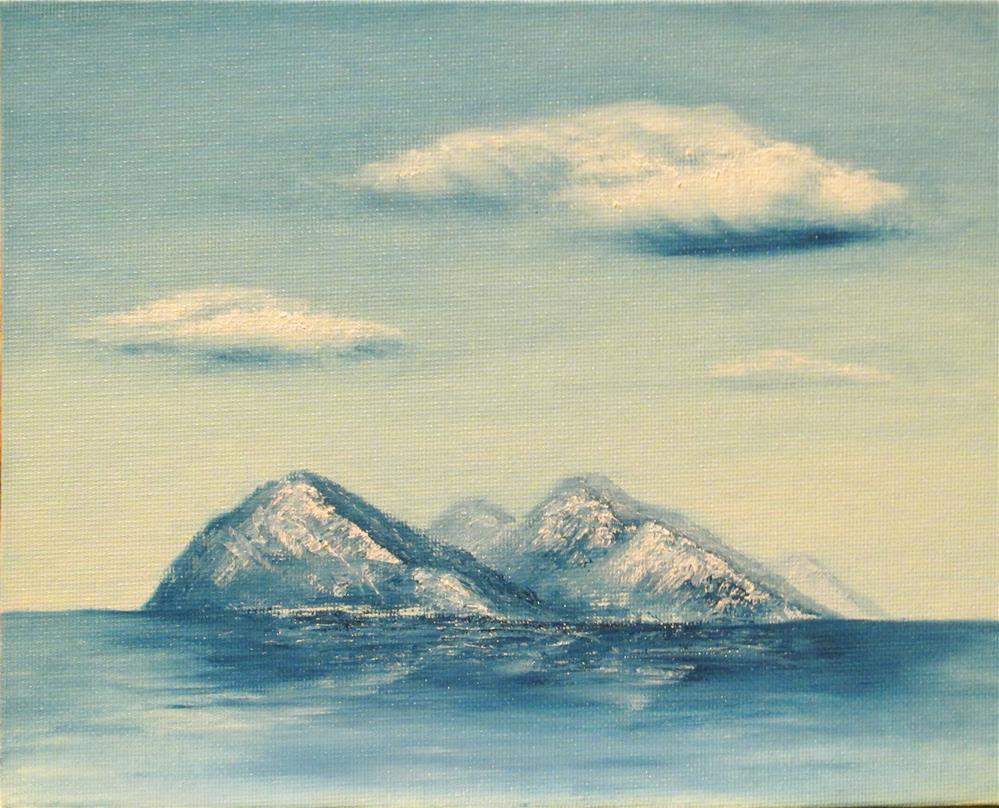 """Seascape-03"" original fine art by Mary Sylvia Hines"