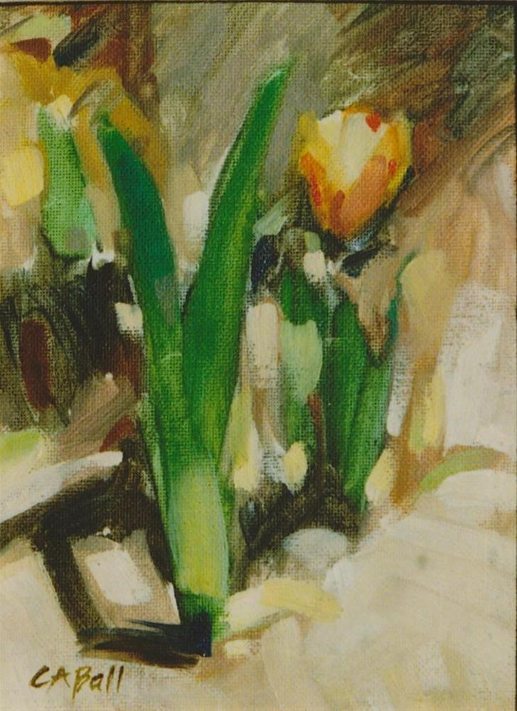 """Spring Tulips"" original fine art by Carole A. Ball"