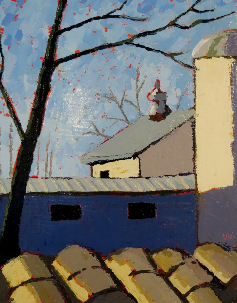 """Out the Window"" original fine art by Joan Wiberg"