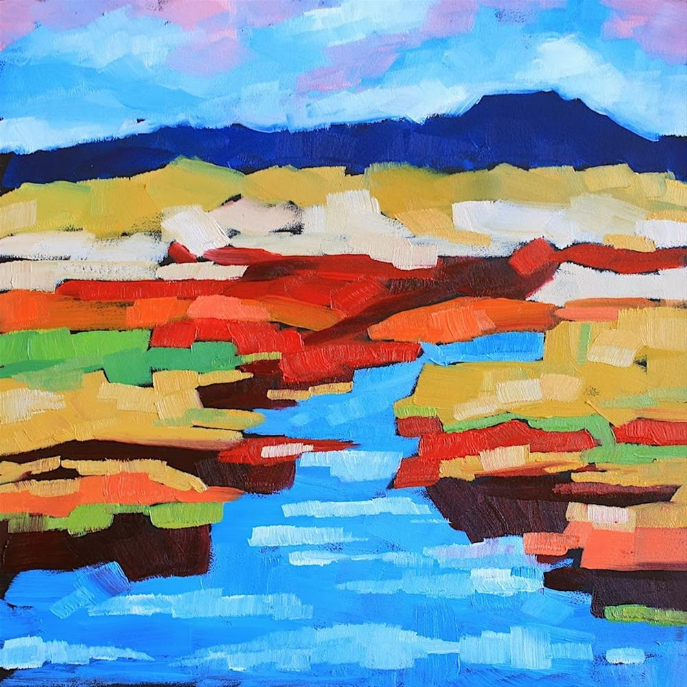 """""""Fall on the Marsh 2"""" original fine art by Mary Anne Cary"""