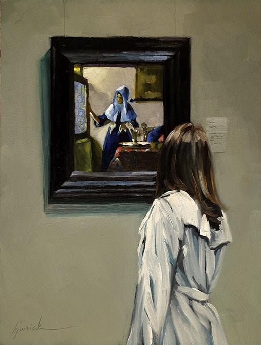 """Woman To Woman"" original fine art by Karin Jurick"