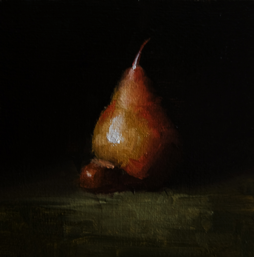 """Pear No.5"" original fine art by Neil Carroll"