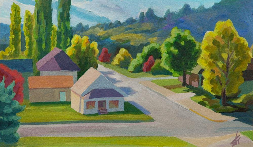 """Philomath Neighborhood"" original fine art by Mark Allison"