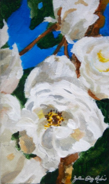 """Winter Roses"" original fine art by JoAnne Perez Robinson"