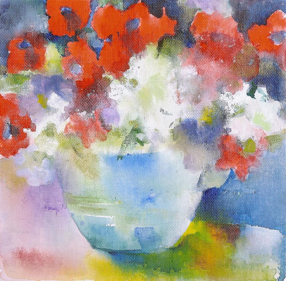 """Porch Petunias"" original fine art by Reveille Kennedy"