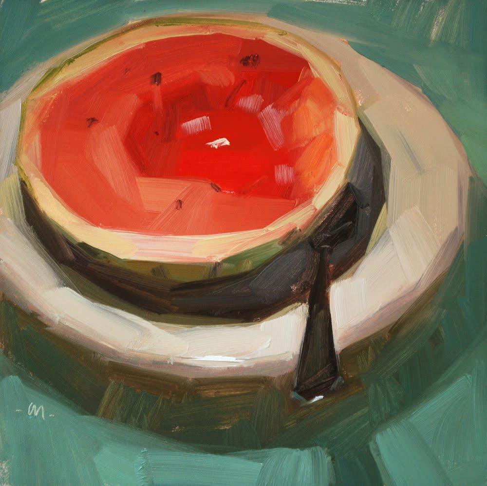 """Watermelon Soup"" original fine art by Carol Marine"