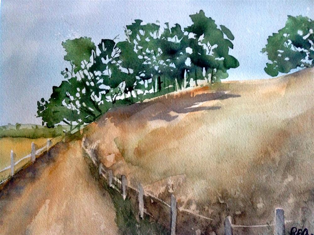"""trees at the top of the hill"" original fine art by Betty Argiros"