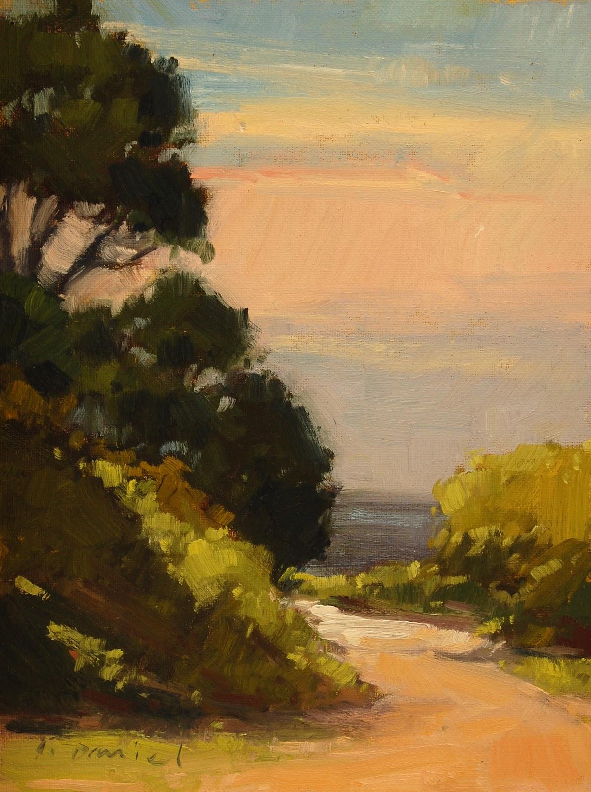 """""""Ocean Walk"""" original fine art by Laurel Daniel"""