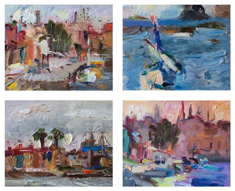 """Mediterranean Seascapes"" original fine art by Anna Fine Art"