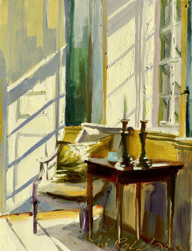 """SUNLIT INTERIOR"" original fine art by Cecilia Rosslee"