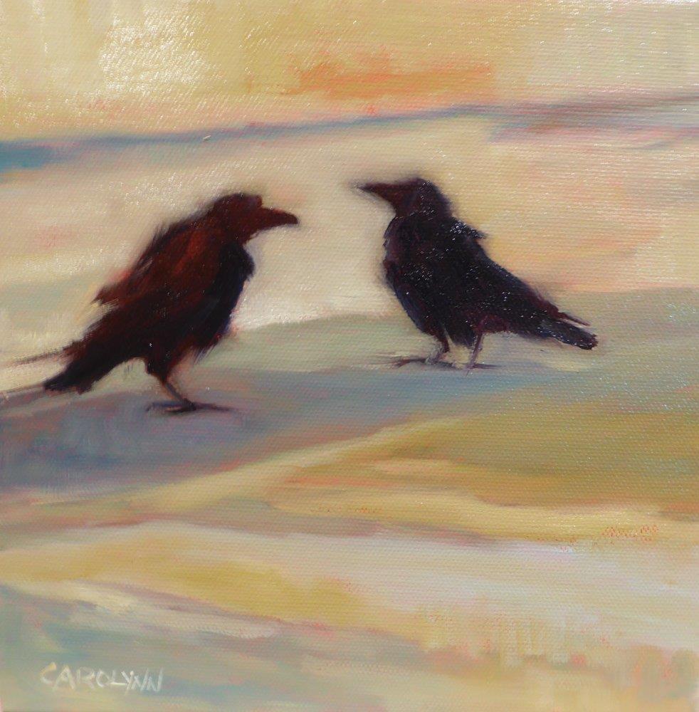 """And Then She Said...."" original fine art by Carolynn Doan"