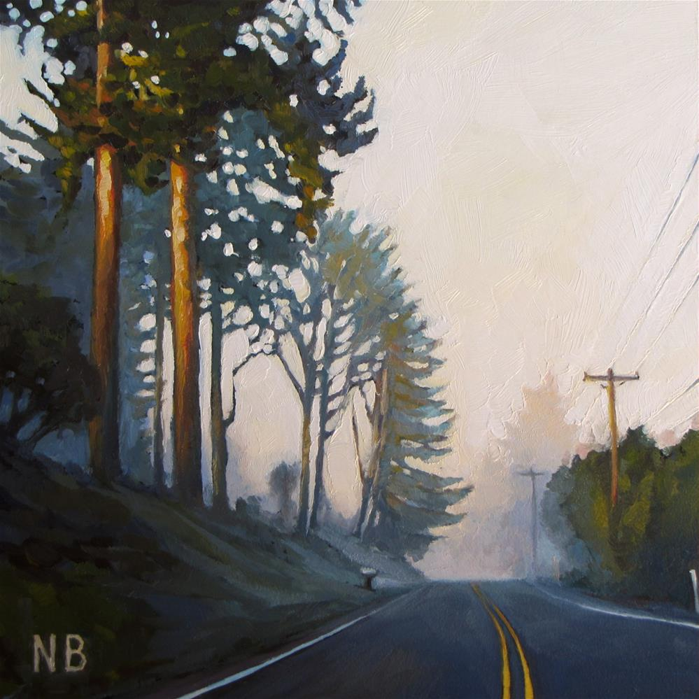 """Sunday Fog"" original fine art by Nora Bergman"