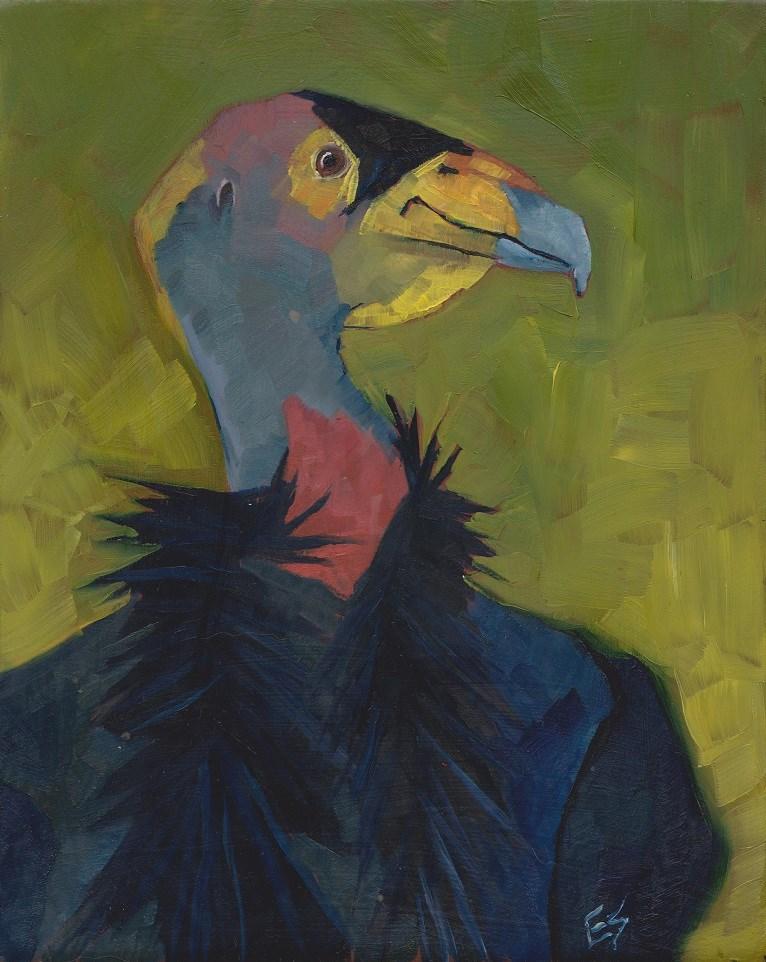 """""""Condor"""" original fine art by Elizabeth See"""