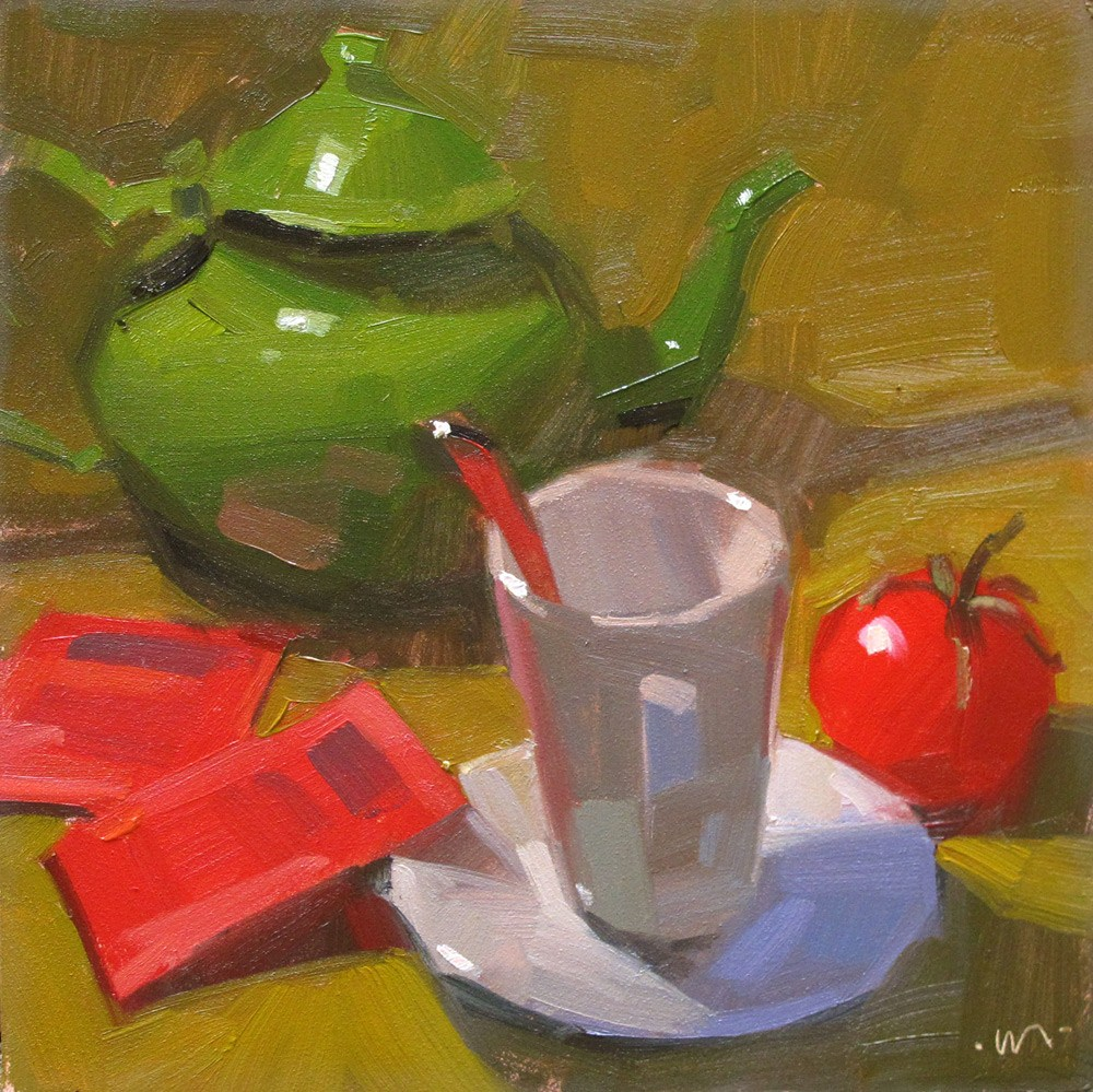 """Tomato Tea"" original fine art by Carol Marine"