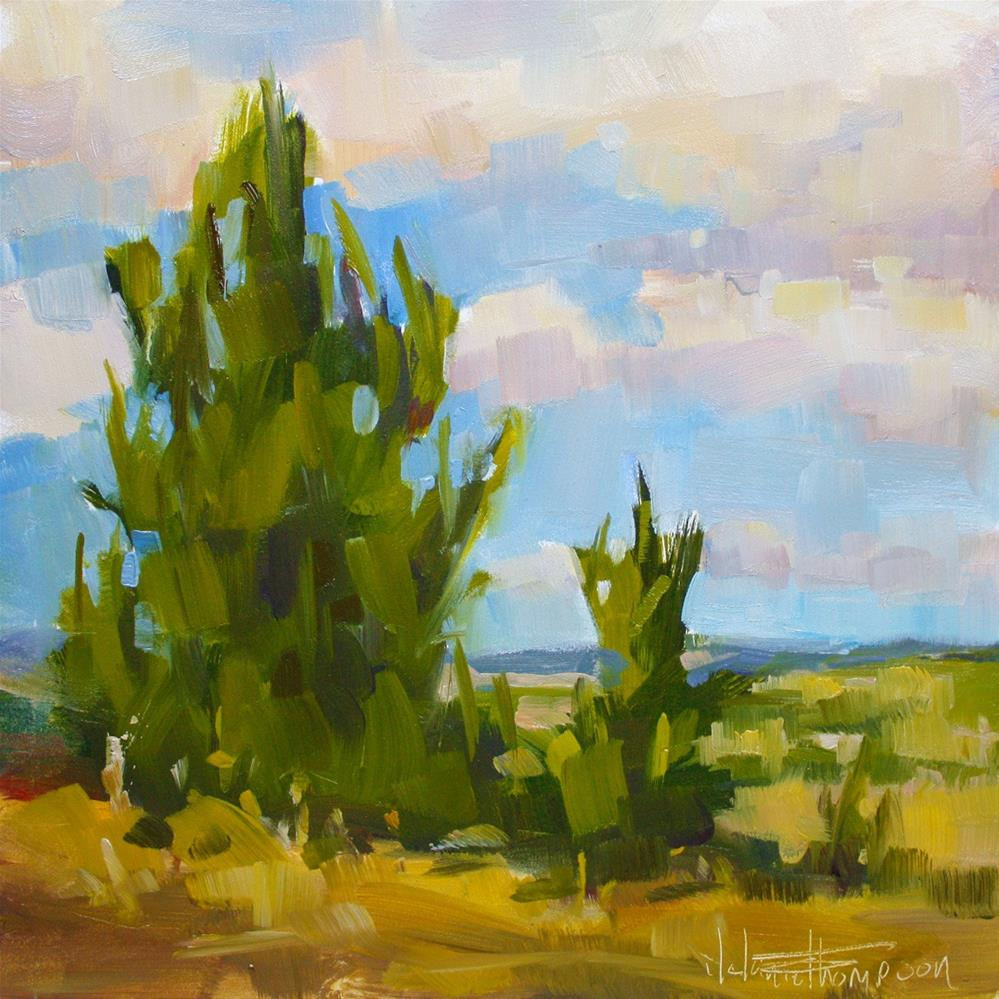 """Glass Butte Juniper"" original fine art by Melanie Thompson"
