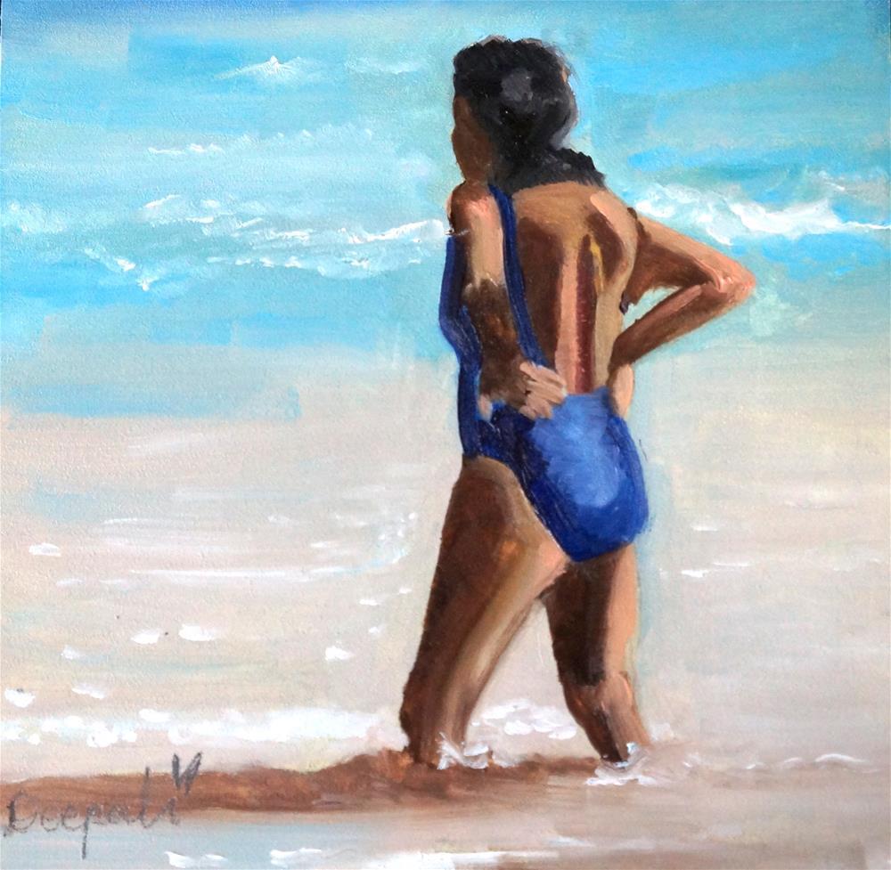 """""""Lady in the Sun"""" original fine art by Dipali Rabadiya"""