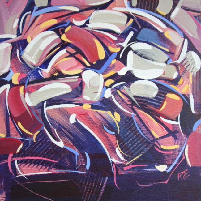 """""""Shapes & Movement 70"""" original fine art by Roger Akesson"""