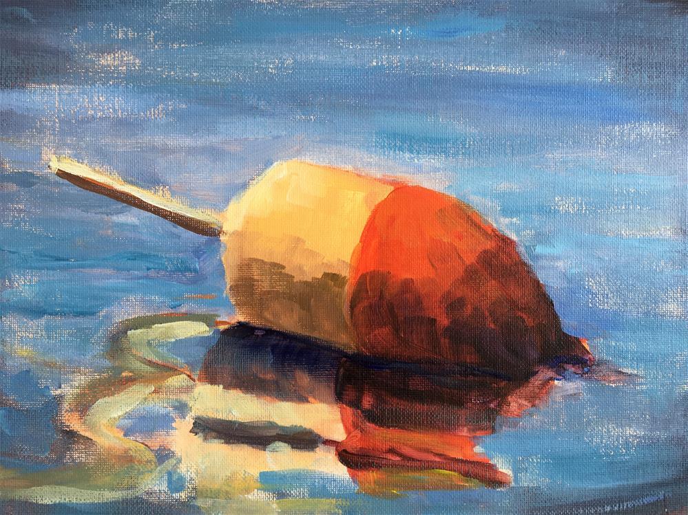 """""""Lobster Buoy"""" original fine art by Susan Elizabeth Jones"""