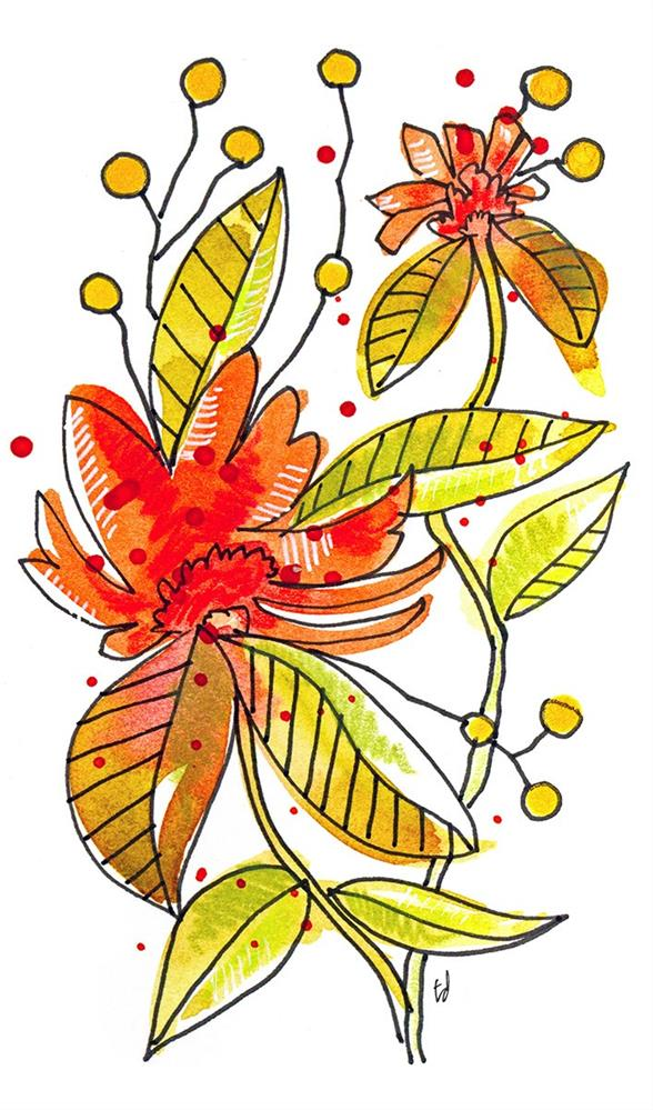 """Lil' Orange"" original fine art by Tonya Doughty"