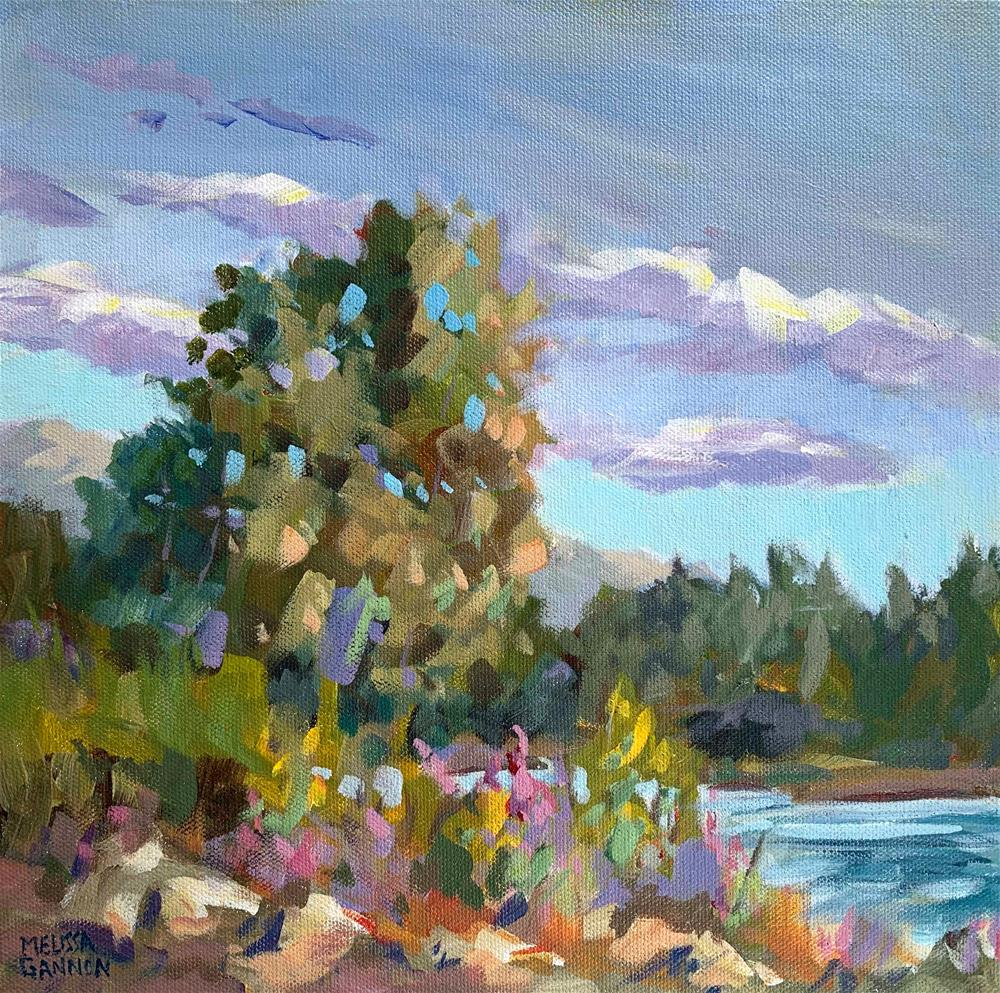 """Afternoon Along the Willamette"" original fine art by Melissa Gannon"