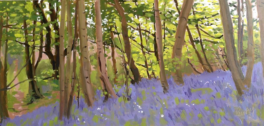 """Bluebells, Overstrand"" original fine art by Tanya Pawsey"