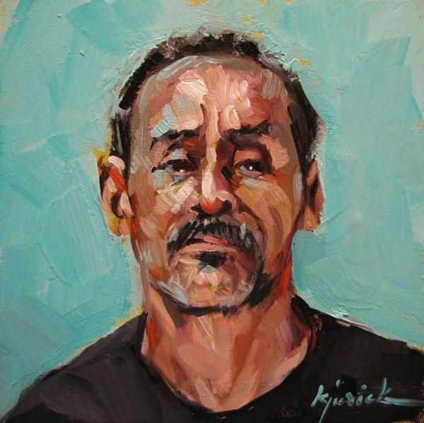 """100 Faces, No. 48"" original fine art by Karin Jurick"