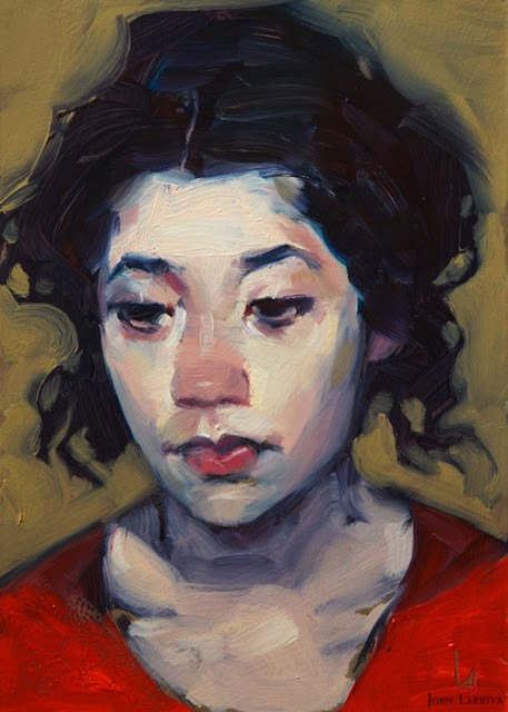 """Scarlet Top"" original fine art by John Larriva"