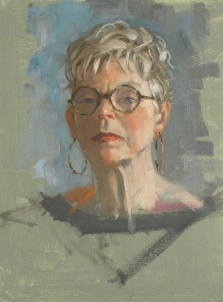 """""""Self #9  11 x 14  oil"""" original fine art by Claudia Hammer"""
