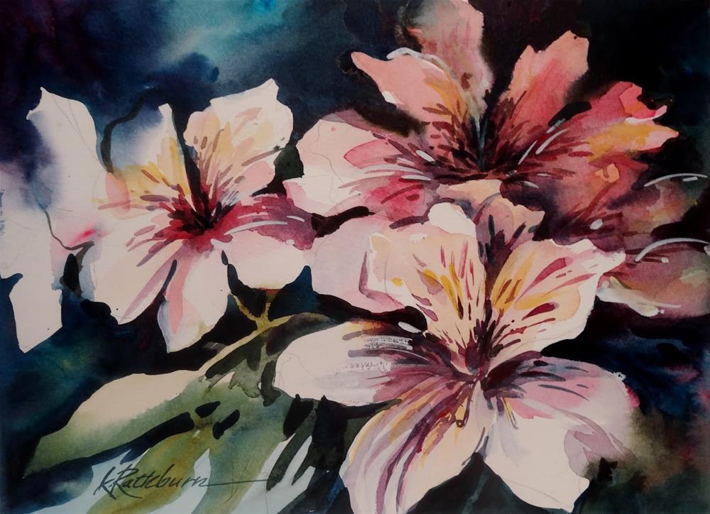 """""""Flowers from Jocelyn"""" original fine art by Kathy Los-Rathburn"""