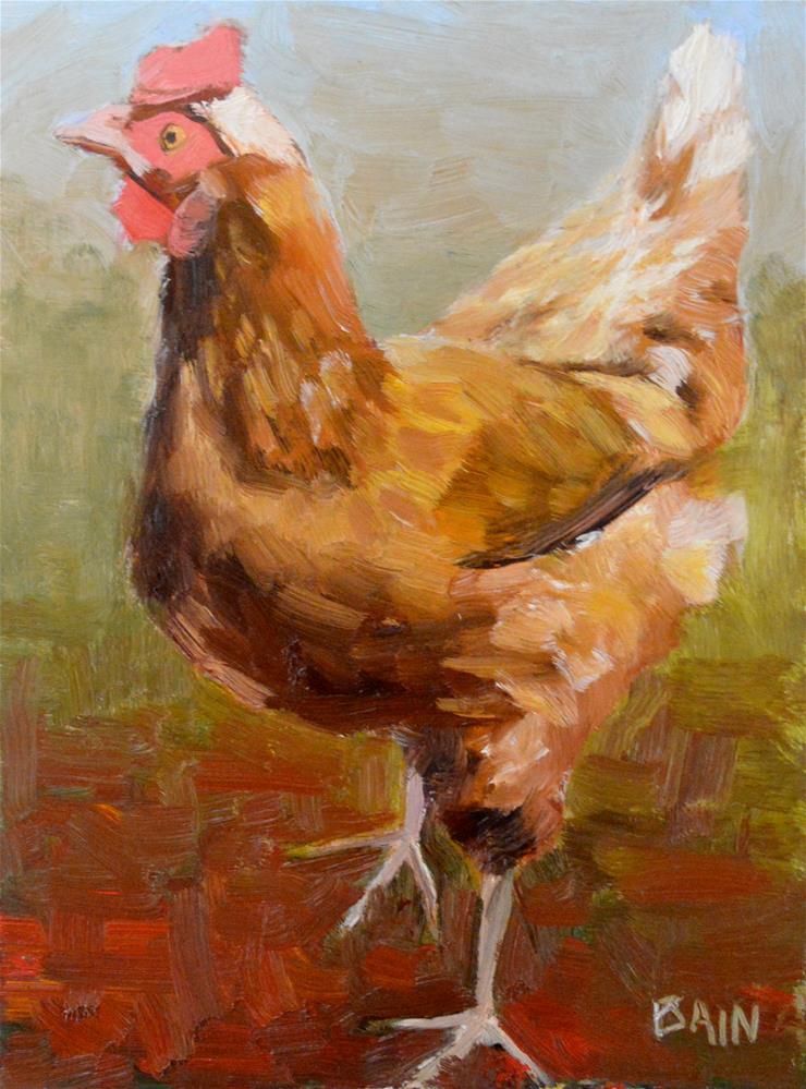 """""""Hot Foot"""" original fine art by Peter Bain"""