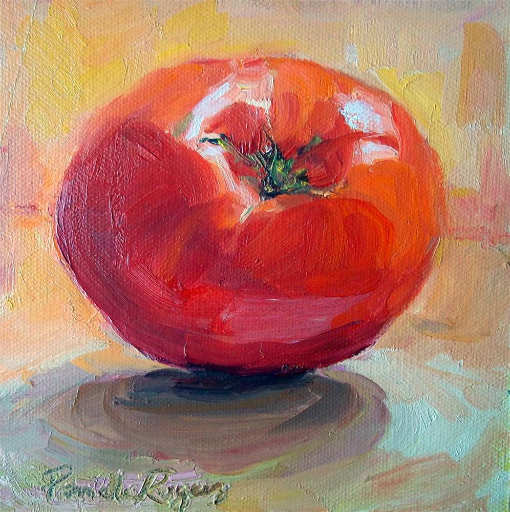 """what a tomato!"" original fine art by Pamela Jane Rogers"