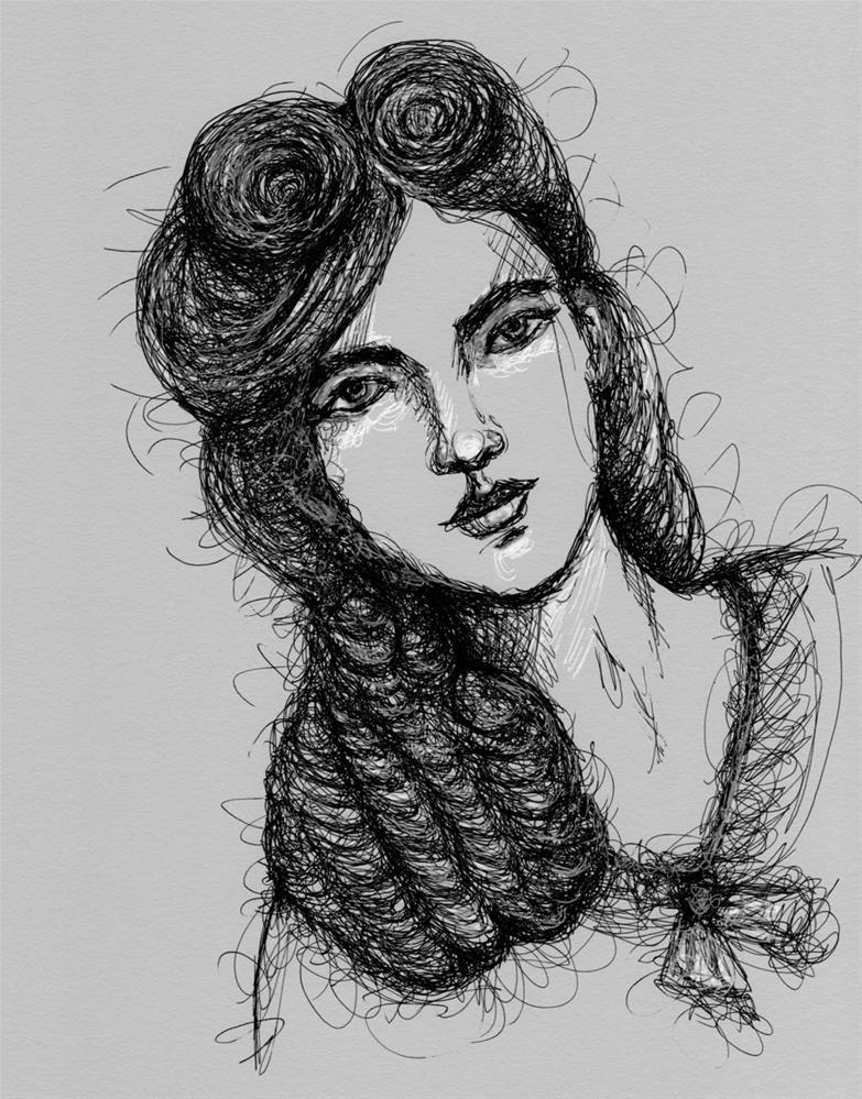 """Portrait of Rosie"" original fine art by Roberta Schmidt"