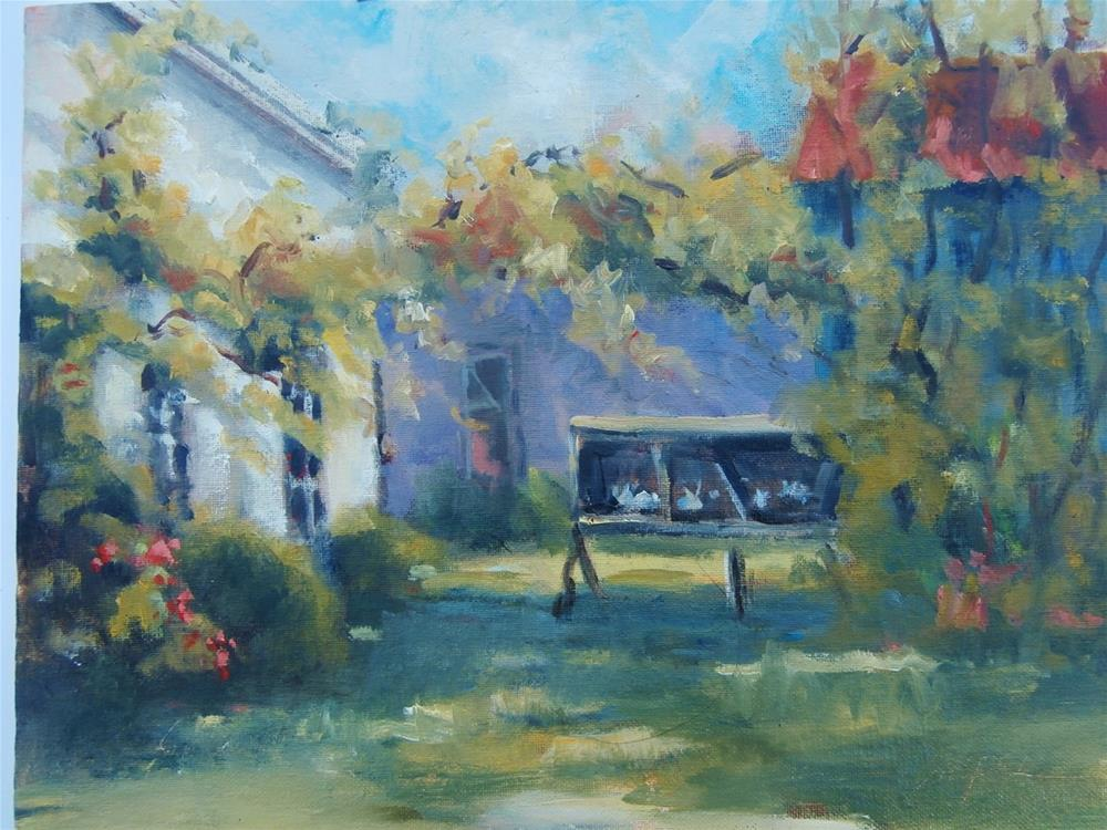 """The Rabbit Hutch"" original fine art by Connie Snipes"