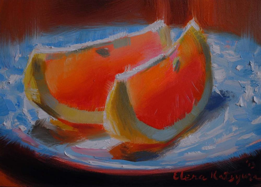 """""""Taste of Sunshine"""" original fine art by Elena Katsyura"""