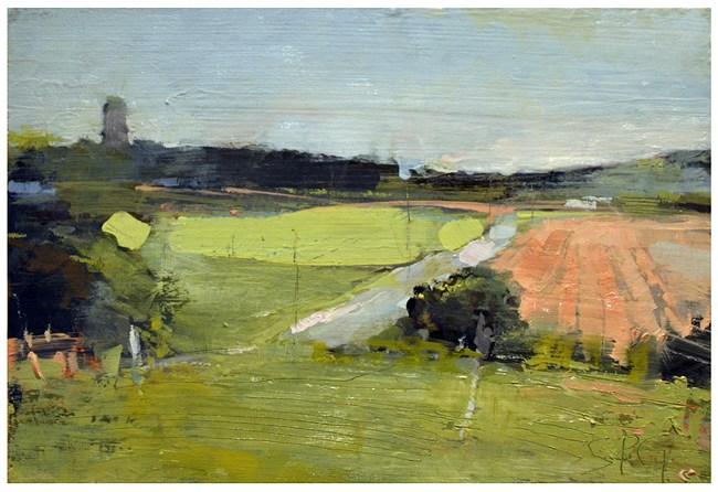"""""""Farm fields study"""" original fine art by Steven Goodman"""