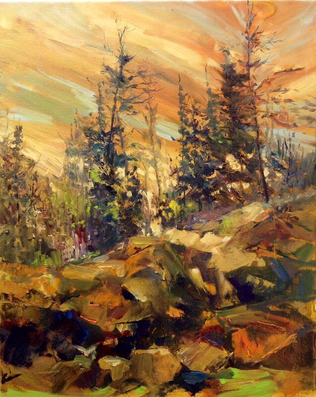 """""""Northern Gold"""" original fine art by Cathy Boyd"""