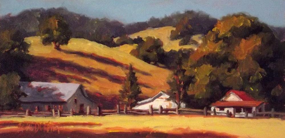 """Warm Hills of California"" original fine art by Erin Dertner"