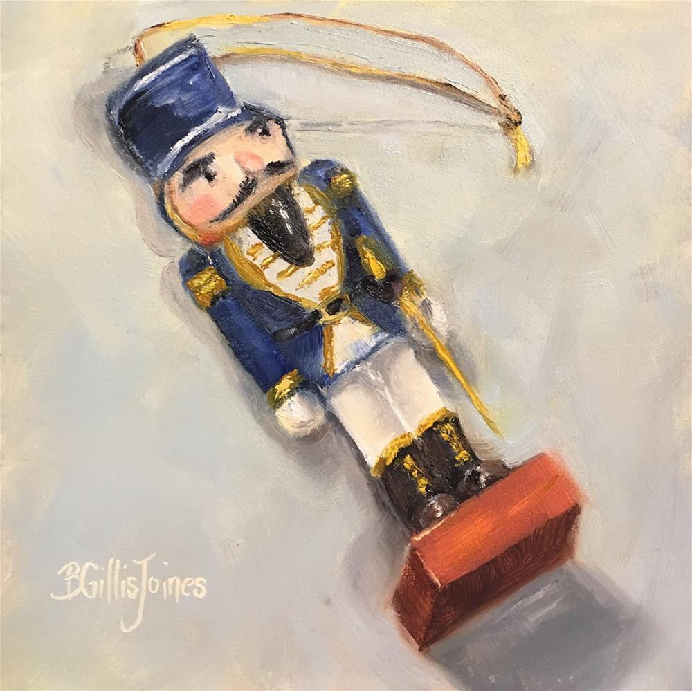 """Blue Holiday"" original fine art by Barbara Gillis Joines"