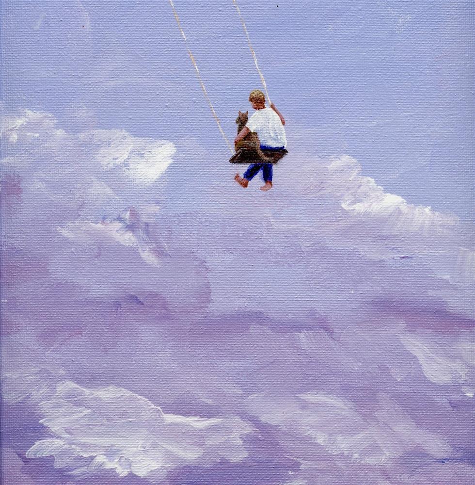 """A boy and His Dog"" original fine art by Sue Furrow"
