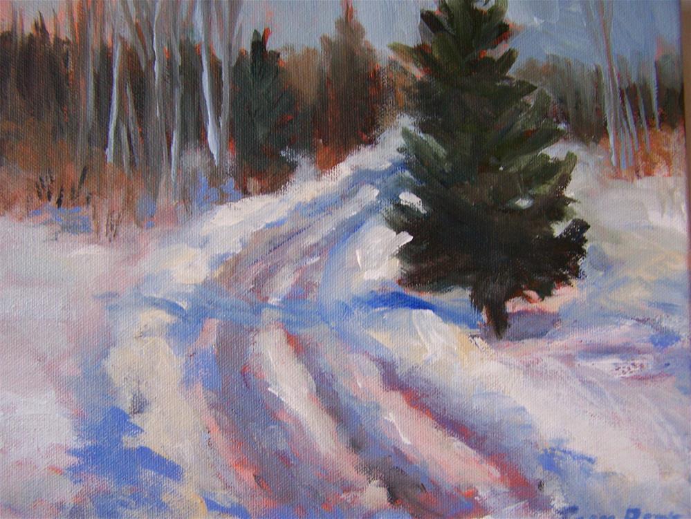 """""""Winter Road"""" original fine art by Joan Reive"""