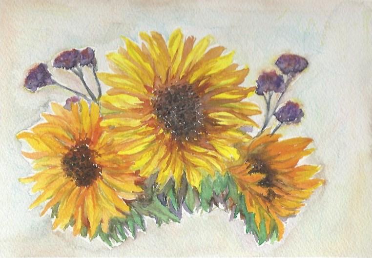 """Sunflowers"" original fine art by Laura Denning"