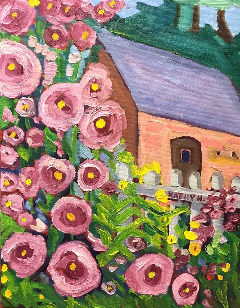 """Flower Study After Susan Hale "" original fine art by Katherine Hambley"